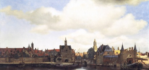 Vermeer's view on Delft
