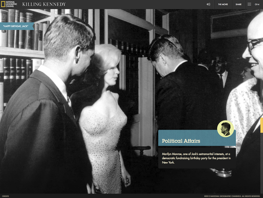 Interactive Monroe wishes you a happy birthday - visual storytelling styles