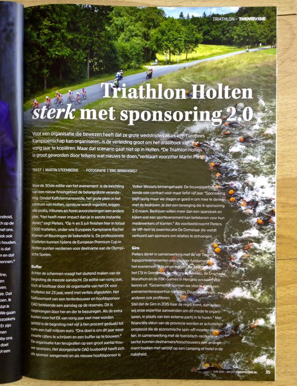 Drone sports photography. Photo: Eric Brinkhorst. Twentemagazine