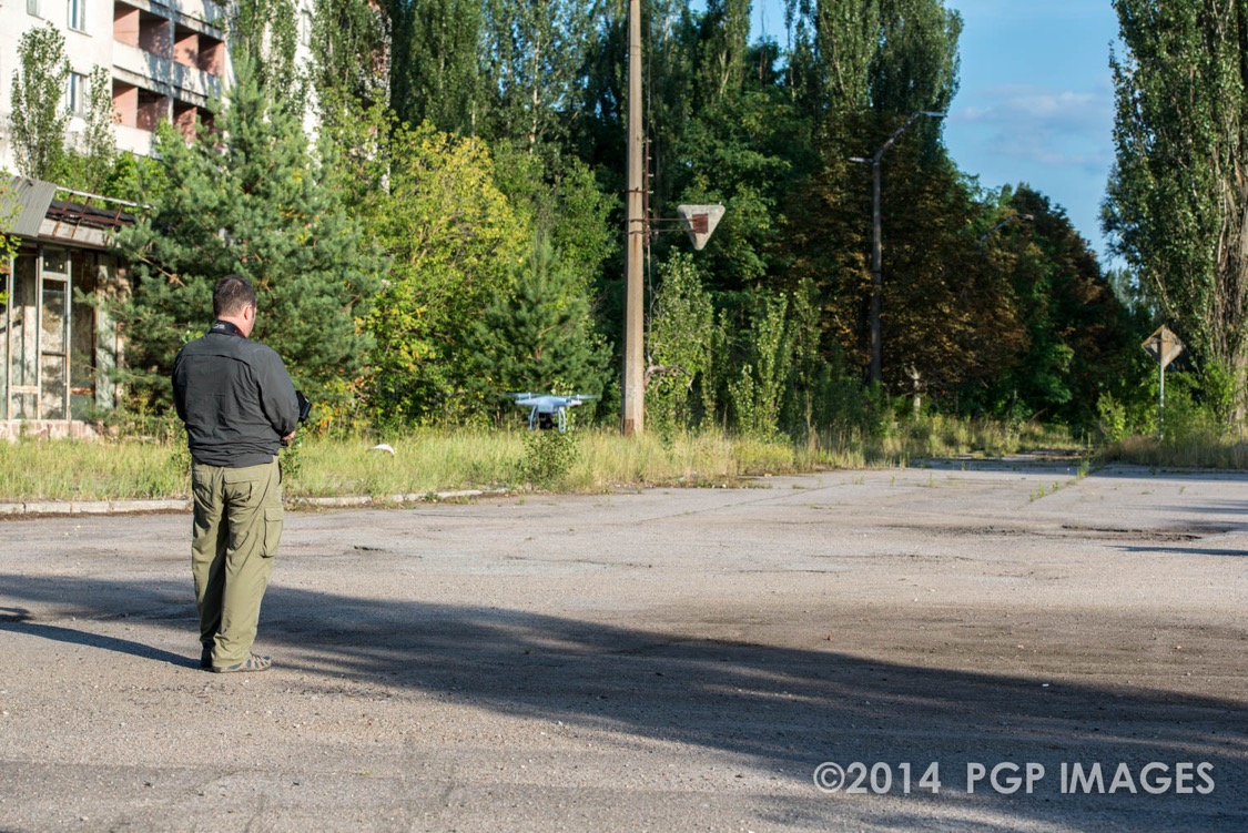 Philip Grossman in the streets of Pripyat