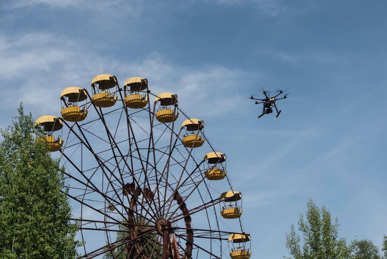 Big Wheel of Chernobyl with hexacopter