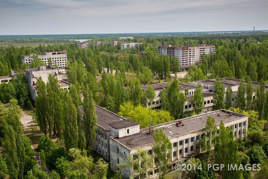 Overgrown city of Pripyat